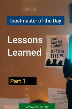 Toastmaster of the Day – Lessons Learned Part 1 Lessons Learned, Stand Up, Speakers, Crowd, Handle, Thoughts, Learning, Day, People