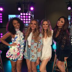 Our live-stream starts soon! www.aol.com & www.little-mix.com. #LittleMixAnniversary #4YearsOfLittleMix xx LittleMix Xx