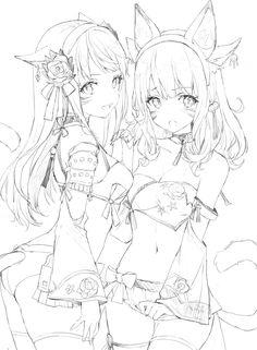 Manga style female (clothing + expression)