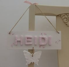 Personalised Butterfly Plaque