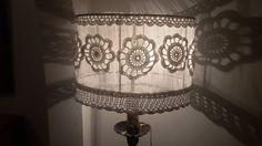 Pantallas para lamparas, artesanales tejidas en crochet