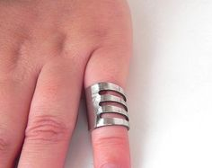 Fork ring. Small bended stainless steel fork by GiannasCreations