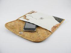 Multipurpose envelope like wallet made from cork and by mispBag, €30.00