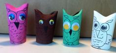 Look inside for step-by-step instructions on making a glue-free cardboard tube owl.