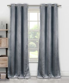 Another great find on #zulily! Gray Tegan Blackout Curtain Panel - Set of Two #zulilyfinds