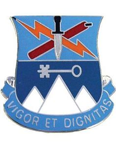 0002 Bde 10 Mountain Special Troops Bn Unit Crest (Vigor Et Dignitas)