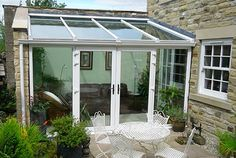 lean to Garden room upvc - gardenroom Lean To Conservatory, Conservatory Design, Conservatory Extension, Victorian Terrace, Front Entrances, Room Planning, Winter Garden, Windows And Doors, Trees To Plant