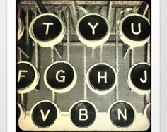 Typewriter Photo, Black and White, Typewriter Keys, Black and White, gift for writer, ttv Author Books Round Circles Story Fiction Antique by mayaredphotography. Explore more products on http://mayaredphotography.etsy.com