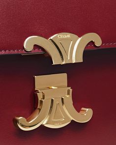 Inspired by the original logo created by founder Celine Vipiana in it was used liberally till Now a stylised rendition is back and the anchor feature on the new Triomphe bag. Celine, Tie Accessories, New Bag, Locker, Being Used, Anchor, Ties, Detail, Logos