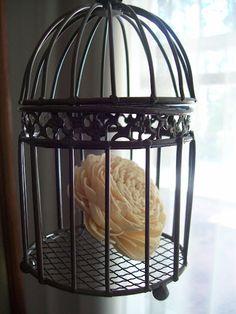 mini bird cages - useful decor!  D