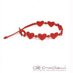 Cruciani Armband Herz Rot