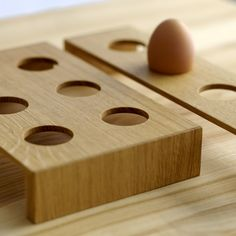 Wooden egg tray (for 6 eggs). Triangle, Tray, Eggs, Handmade Gifts, Woods, Organic, Gift Ideas, Kitchen, Kid Craft Gifts