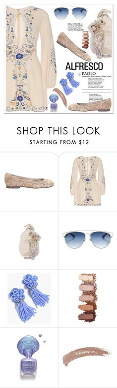 """""""Easy Breezy: Alfresco Dining and PaoloShoes"""" by spenderellastyle ❤ liked on Polyvore featuring Christian Dior, J.Crew, Topshop and alfrescodining"""