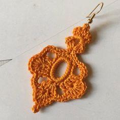 ONE Crochet Earrings Pattern, Crochet Earring pattern, PDF File - Crochet dangle earrings - PDF pattern for beginners, crochet earrings Crochet Pattern Free, Crochet Jewelry Patterns, Crochet Earrings Pattern, Crochet Accessories, Tutorial Crochet, Crochet Flowers, Crochet Lace, Doilies Crochet, Crochet Minecraft