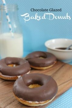 Chocolate Glazed Baked Donut Recipe - Who doesn't love donuts? They are sweet, fun to eat, and portion-controlled. The only problem is, they are also often fried and you have no idea what is in them. This from-scratch donut recipe is baked on the oven, easy, and fun to make!