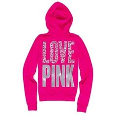 Spring - Summer - Fall - Love Pink - Victoria's Secret - Pink hoodie - So cute! Victoria Secret Outfits, Victoria Secret Pink, Pink Love, Vs Pink, Pink Outfits, Cute Outfits, Teen Outfits, Pretty Outfits, Pink Nation