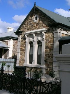 #Adelaide | Beautiful old cottage Brick Cottage, Old Cottage, Victorian Cottage, Exterior Colors, Exterior Paint, Exterior Design, Stone Exterior Houses, Stone Houses, Stone Cottages