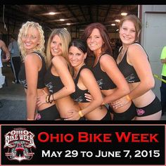 Girls at Ohio Bike Week (2015 Dates are May 29 to June 7)  1/3 OFF VIP Tickets …www.ohiobikeweek.com/event-tickets.php  **More PICTURES at blog.lightningcustoms.com/oh-bike-week/  #ohiobikeweek #ohiobikeweekdiscount #ohbikeweek #bikeweekohio