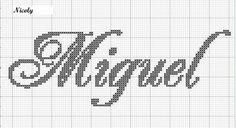grafico ponto cruz nome miguel - Pesquisa Google