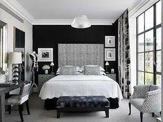 #Black and #White #Bedroom design. #laylagrayce