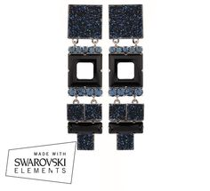 Martine Wester - COSMO STATEMENT EARRINGS IN DENIM, $230 (http://martinewester.com/products/cosmo-statement-earrings-in-denim.html)
