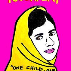 Malala  Yousafzai Pop Folk Art