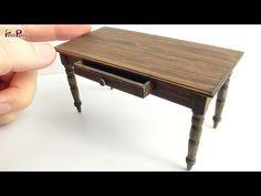 (591) Miniature Antique Table DIY - Petit Palm - YouTube
