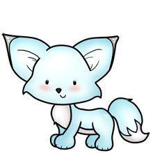 "Arctic Foxee - a reminder of the Facebook game ""Fluff Friends"""