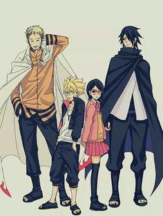 Naruto, Boruto, Sasuke, Sarada