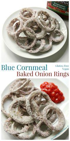 Blue Cornmeal Baked Onion Rings | Strength and Sunshine Rebecca Pytell ...