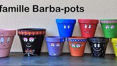 Make your own Barbapapa family garden pots. Ceramic Pots, Clay Pots, Christmas Gifts For Adults, Outdoor Pots, Painted Flower Pots, Clay Pot Crafts, Cactus Flower, Garden Pots, Diy For Kids