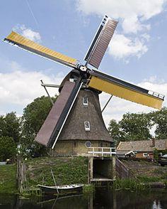 Polder mill Grutte Mûne / De Grote Molen, Broeksterwoude, The Netherlands