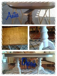 Trabalho feito por encomenda - a Maria quis transformar a sua mesa de clássica a rústica