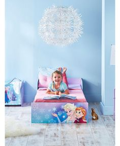 Make the move from cot to a 'big' bed easy with this Disney Frozen Toddler Bed. Big on imagination but easy on the pocket, this toddler bed will have your little one right on track for a brilliant bedtime routine. Perfect for toddlers, the low to the ground bed features protective side panels to prevent bedtime tumbles so they get a good nights sleep and you get peace of mind