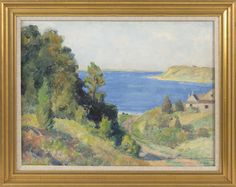 """Pleasant Bay from near Joshua Nickerson's Estate,"" Harold C. Dunbar, oil on canvas board, 17.5 x 23.25"", private collection."