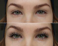Before and after - beauty blogger Anni Jää used Lumene True Mystic Volume Mascara to create these seducing long lashes. Wow! #mascara #lumene