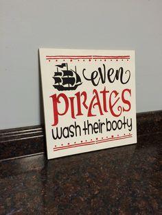 Pirate Bathroom Pirate Decor Pirate Shower Curtain Even Pirates Wash Their  Booty Pirate And Mermaid Bathroom Little Boy Bathroom Wall Decor