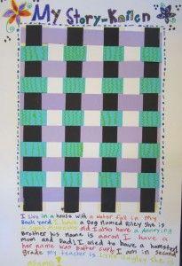 Georgetown Elementary second grade story quilt weavings.