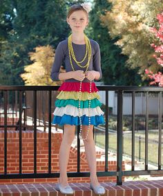 Love this Gray & Red Ruffle Tiered Dress - Toddler & Girls by Addie & Ella on #zulily! #zulilyfinds