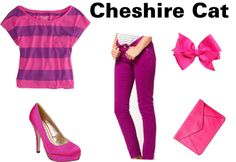 """""""Cheshire Cat Disneybound Outfit"""" by hannahstrawberry on Polyvore"""