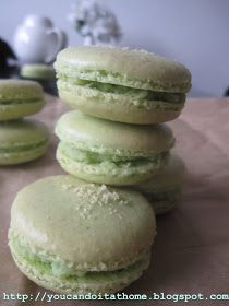 You can do it... at home!: Toasted Coconut Pandan Macarons - tastes, smells and feels like home