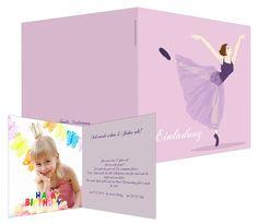 Bailarina - #invitación para #cumpleaños infantil