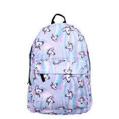 75c734f4f4fc Angmart Unicorn Backpack Printing Cute Travel School for Teenage Girls Blue  for sale online. Unikornis Mánia