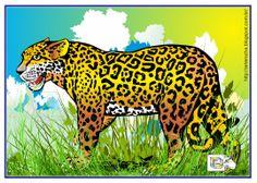 Onça - Ilustração - vetor - corel deaw. http://arterocha.blogspot.com.br/