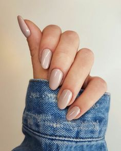 Nails nail designs nail art nails acrylic sns nails sns nails colors sns n Beige Nails, Nude Nails, My Nails, Pointy Nails, Nail Manicure, Manicures, Manicure Quotes, Acrylic Nails Nude, Rounded Acrylic Nails