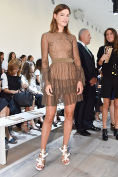 Hanneli Mustaparta Front a Row Micheal Kors Spring 2015