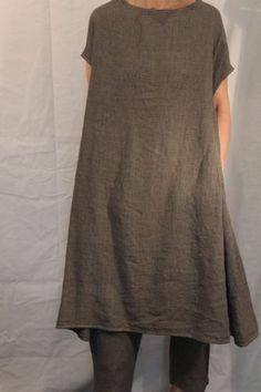 robe ab en lin petits carreaux