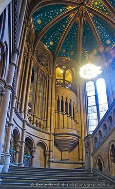 Manchester town hall spiral staircases