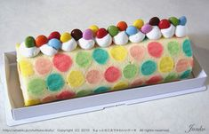 Colorful cake roll