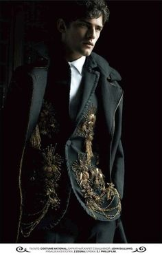 John Galliano ??? The Prince would wear something ornate like this, although he doesn't prefer black on black